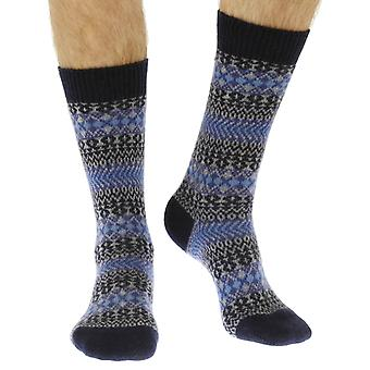 Mapperton luxury men's cashmere dress socks in navy | By Pantherella
