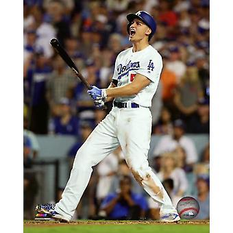 Corey Seager 2 uruchomić Home Run gra 2 2017 World Series Photo Print