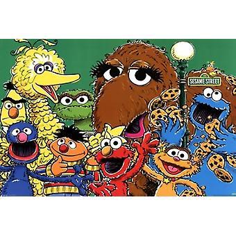 Sesame Street - Gruppe-Poster-Plakat-Druck