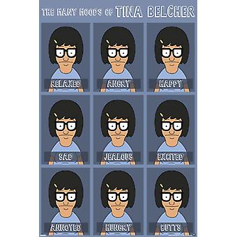 Bobs Burgers - Moods of Tina Poster Poster Print by