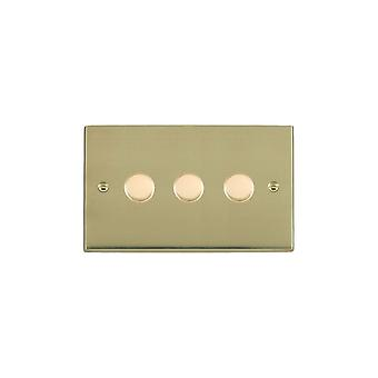 Hamilton Litestat Cheriton Victorian Polished Brass 3g 400W 2 Way Dimmer PB