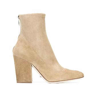 Sergio Rossi women's A75280MAF7422472 beige Suede Ankle Boots