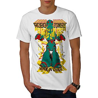 Roboter Fashion coole Männer WhiteT-Shirt   Wellcoda