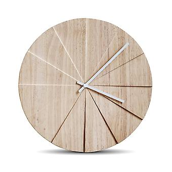 LEFF Scope 38 Wall Clock natural/lacquered/D 3.1cm/Ø 38cm/clock hand white
