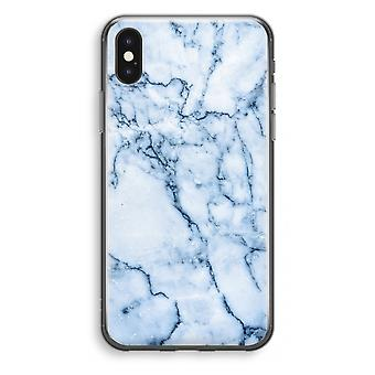 iPhone X Transparant Case - Blue marble