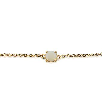 Gemondo Amour Damier 9ct Yellow Gold 0.31ct Opal Claw Set Cabochon 19cm Bracelet