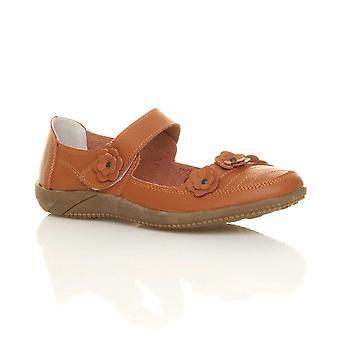 Ajvani dame fuld læder komfort krog & loop gå afslappet sandaler sko
