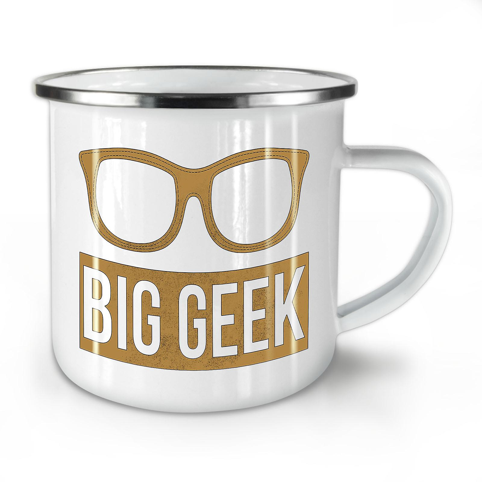 Whitetea Glasses Mug10 Geek OzWellcoda Coffee New Big Enamel lucF1KJ3T