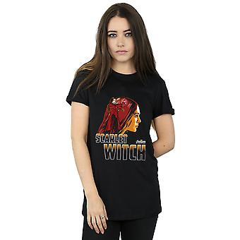 Avengers Women's Infinity War Scarlet Witch karakter Boyfriend Fit T-Shirt