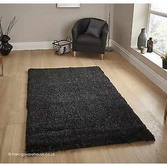 Schwarzer Teppich Loft