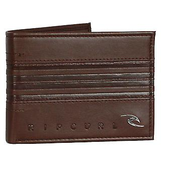 Rip Curl plånbok med CC, Observera och mynt sektioner ~ Rapture Boss alla dag brown