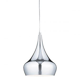 Searchlight Yurt Pendant Light Finished Chrome