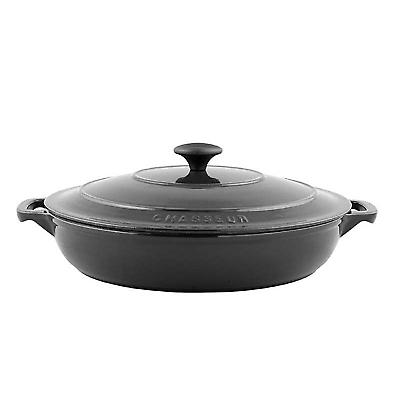 Chasseur Cast Iron Serving Casserole Round 30cm 3.0l Matt Black 11872301
