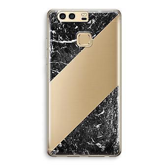 Huawei caja transparente P9 (suave) - mármol negro