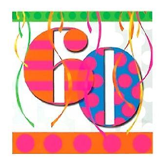 60 servilletas fiesta cumpleaños brillante de globo