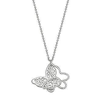 ESPRIT women's łańcuch naszyjnik ze stali nierdzewnej stali srebrny cyrkonia ESNL03437A800