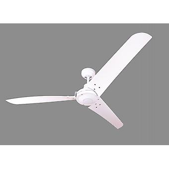 Industrial ceiling fan Vourdries White with wall control