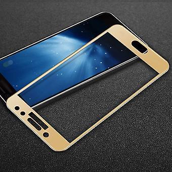 Полное 3D закаленное стекло 0.26 мм тонкие H9 шок золото для Samsung Галактика J3 2017 покрытия для защиты новых