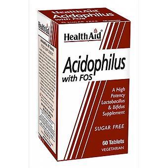Health Aid Acidophilus with FOS 60 Tablets
