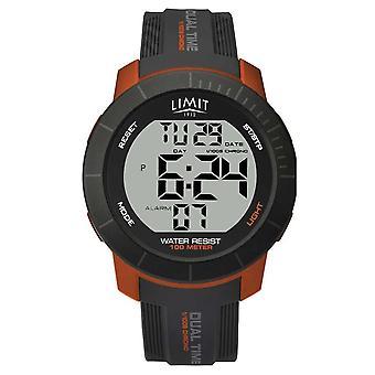 Limit Mens Active Digital Dual Time Chrono Grey/Orange 5676.66 Watch