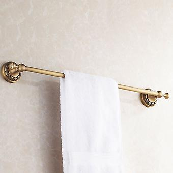 Antique Brass Bathroom Single Towel Bar 60cm Rail Hanger Wall Mounted Rack