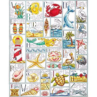Ocean ABC Counted Cross Stitch Kit-16