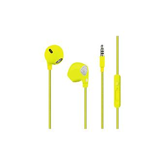 PURO Twist Stereo Headphones, cable patterns, lime green
