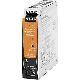 Weidmüller PRO MAX 72W 24V 3A Rail mounted PSU (DIN) 24 Vdc 3 A 72 W
