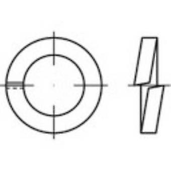 TOOLCRAFT 144952 Split lock rings Inside diameter: 6 mm DIN 7980 Spring steel zinc galvanized 100 pc(s)