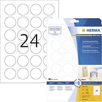 Herma 4236 Labels Ø 40 mm Film Transparent