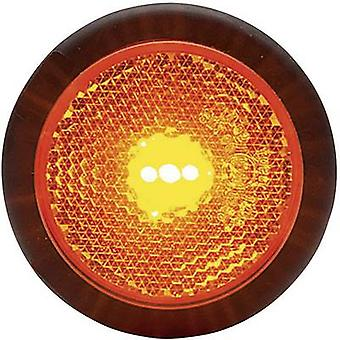 WAS LEDs End outline marker Marker, Reflector , Tail light rear 12 V, 24 V Orange