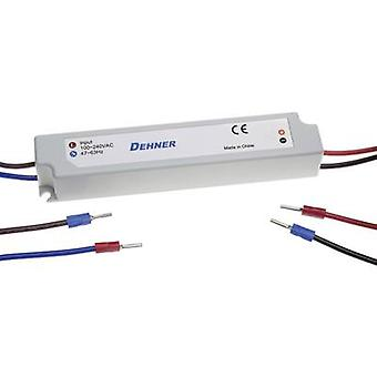 Dehner Elektronik LED-24V12W-IP67 LED transformer Constant voltage 12 W 0 - 0.5 A 24 Vdc not dimmable, Surge protection