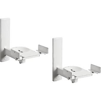 B-Tech BT77 Speaker wall mount Tiltable, Swivelling Distance to wall (max.): 27.3 cm White 1 pair
