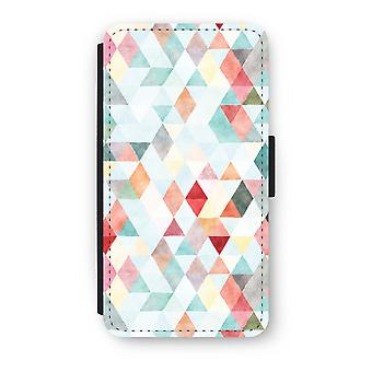 iPhone XS Flip Case - Coloured triangles pastel