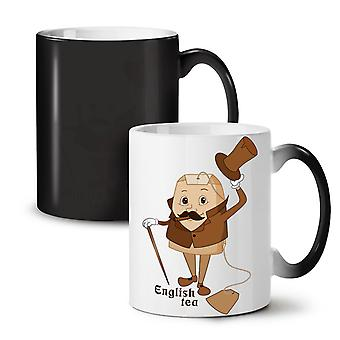 English Tea Bag NEW Black Colour Changing Tea Coffee Ceramic Mug 11 oz | Wellcoda