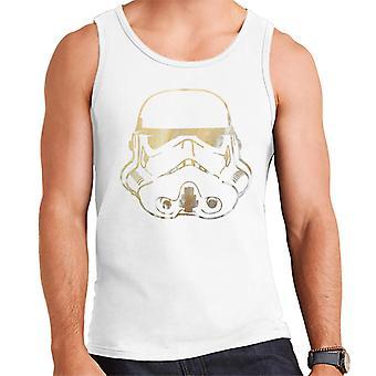 Original Stormtrooper Helmet Gold Foil Men's Vest