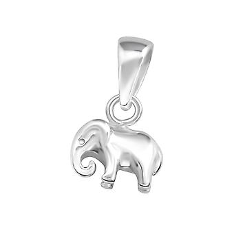 Elephant - 925 Sterling Silver Plain Pendants - W36746x