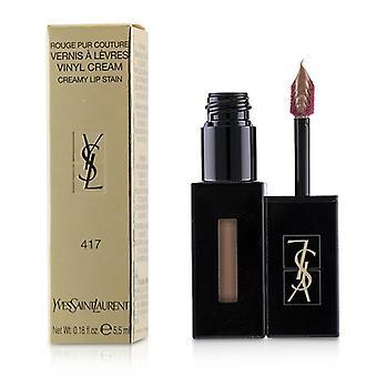Yves Saint Laurent Rouge Pur Couture Vernis A Levres Vinyl Cream romige vlek - # 417 Beige Bounce - 5.5ml/0.18oz