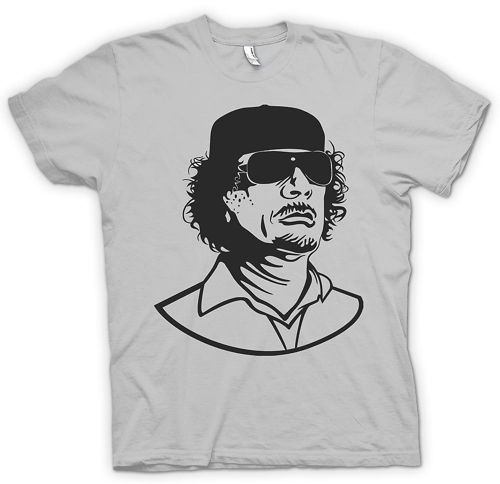 Mens T-shirt - Gaddafi - Libische Dictator portret