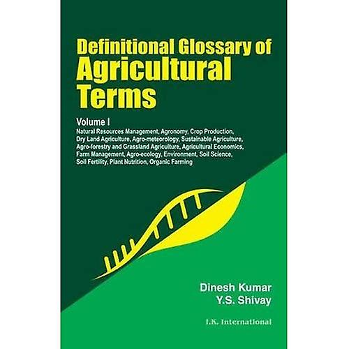 Definitional Glossary of Agricultural Terms, Two Volume Set