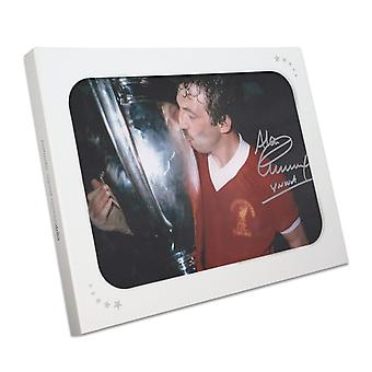 Alan Kennedy Signed Liverpool FC Photo: European Cup Winner In Gift Box