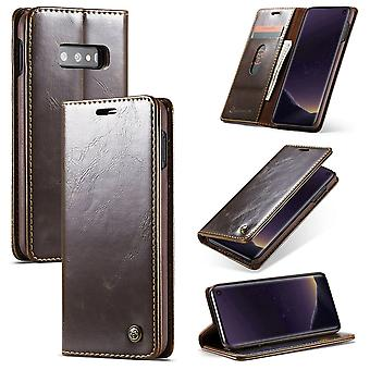 CaseMe protective cover cell phone case for Samsung Galaxy S10 Lite business bag wallet Brown