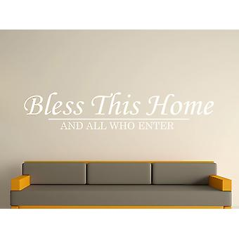 Bless This Home Wall Art Sticker - White
