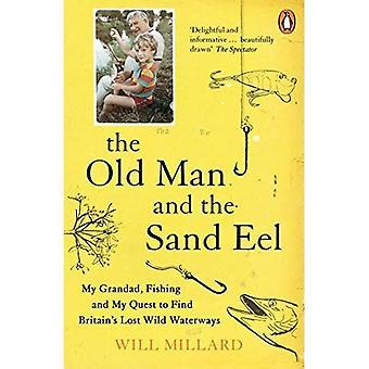 Stary człowiek i węgorz piasku