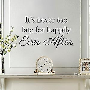Happily Ever after Wall Quote