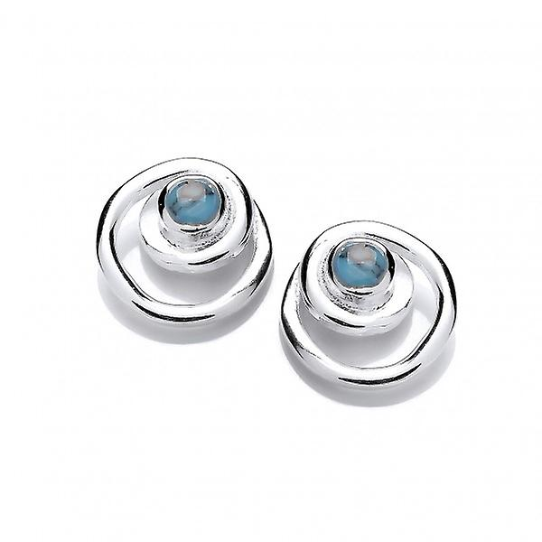 Cavendish French argent and Turquoise Spiral Earrings