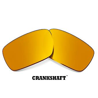 CRANKSHAFT Replacement Lenses Silver & Gold by SEEK fits OAKLEY Sunglasses