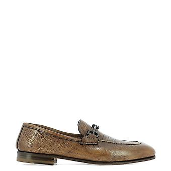 Fabi Brown Leather Loafers