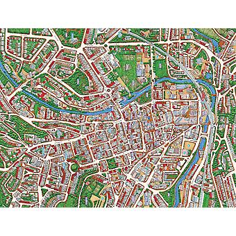 Cityscapes Street Map Of Bath 400 Piece Jigsaw Puzzle 470mm x 320mm (hpy)