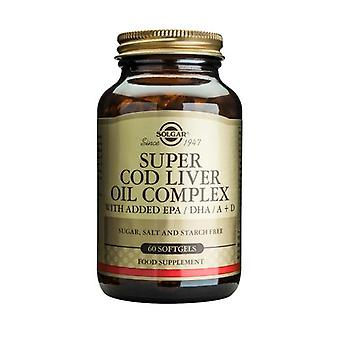 Solgar Super Cod Liver Oil Complex Softgels, 60